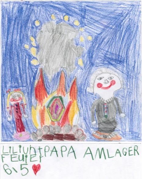 151004 Lily und Papa am Lagerfeuer